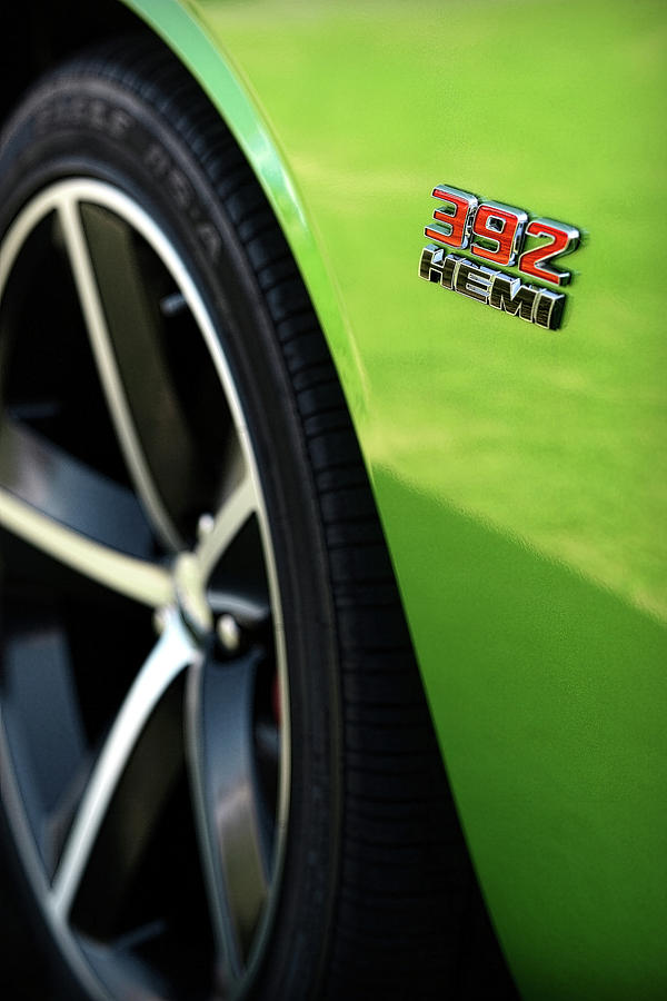 2011 Photograph - 2012 Dodge Challenger 392 Hemi - Green With Envy by Gordon Dean II