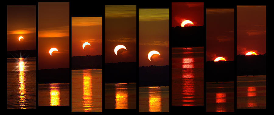 Sun Photograph - 2012 Solar Eclipse by Elizabeth Hart