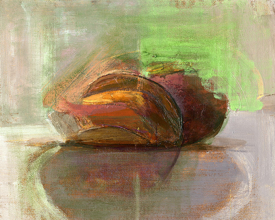 Bread Painting - Rcnpaintings.com by Chris N Rohrbach