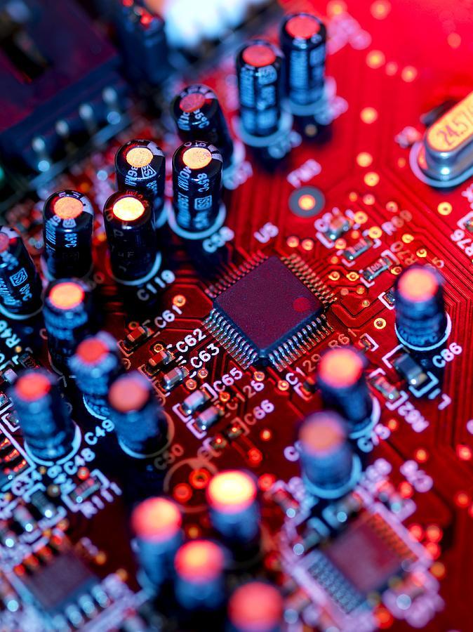 Circuit Board Photograph - Circuit Board by Tek Image