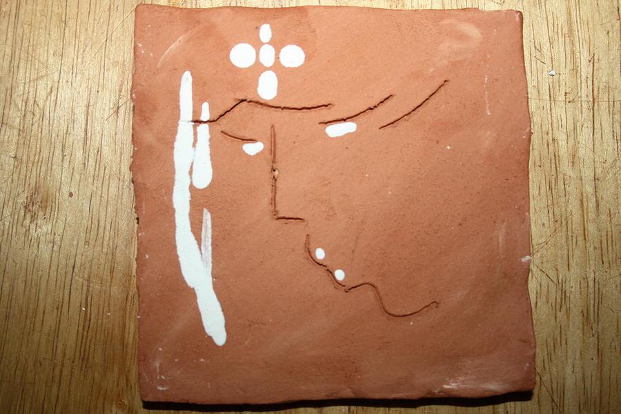 Jesus Ceramic Art - Sign - Tile by Gloria Ssali