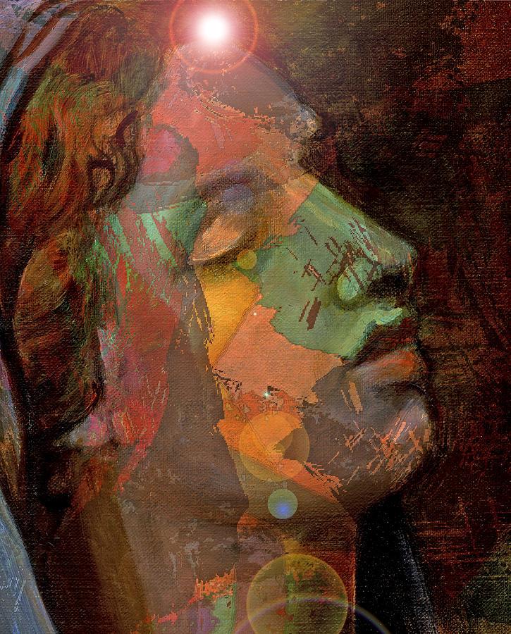 Brown Painting - 21st Century Madona by William Sosa