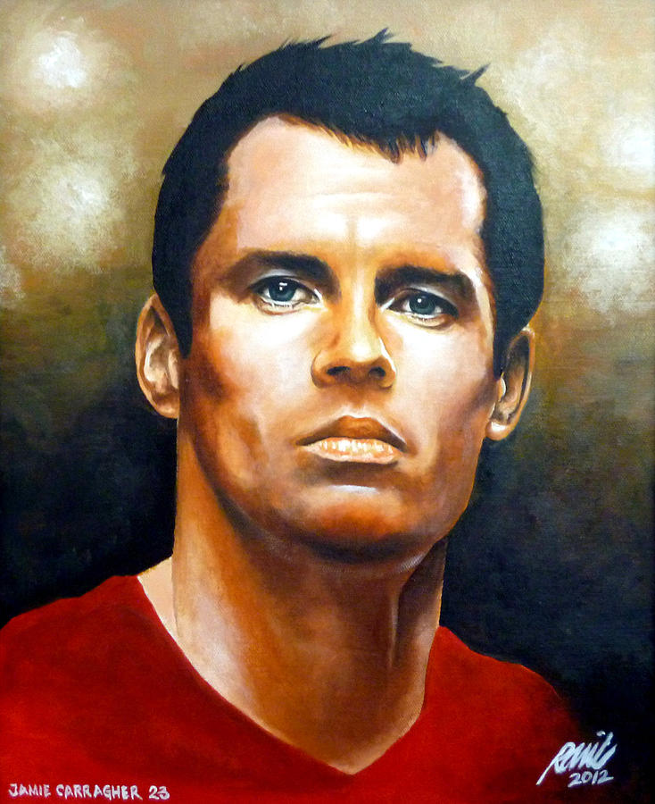 Liverpool Painting - 23 Carra Gold by Ramil Roscom Guerra