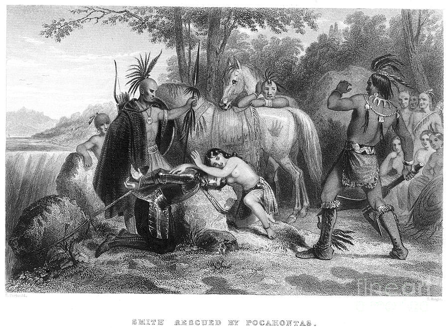 1607 Photograph - Pocahontas (1595?-1617) by Granger