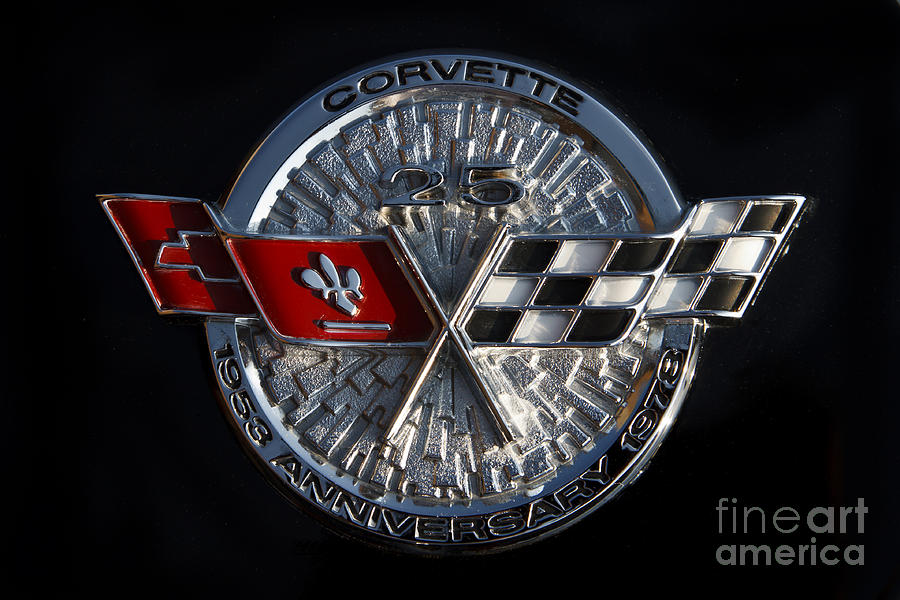 Corvette Photograph - 25th Anniversary by Dennis Hedberg