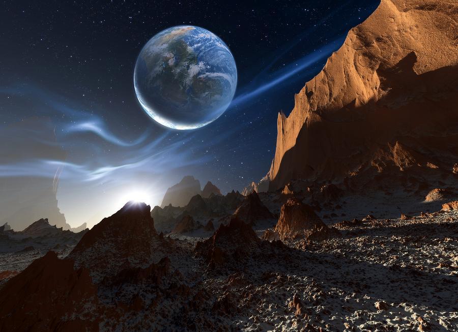 Star Photograph - Alien Landscape, Artwork by Detlev Van Ravenswaay