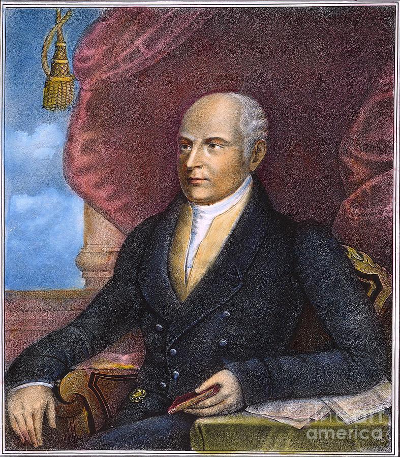 1825 Photograph - John Quincy Adams by Granger