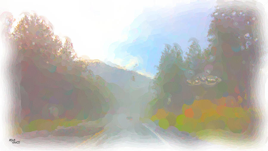 Mountains Painting - Untitled by Adam Vance