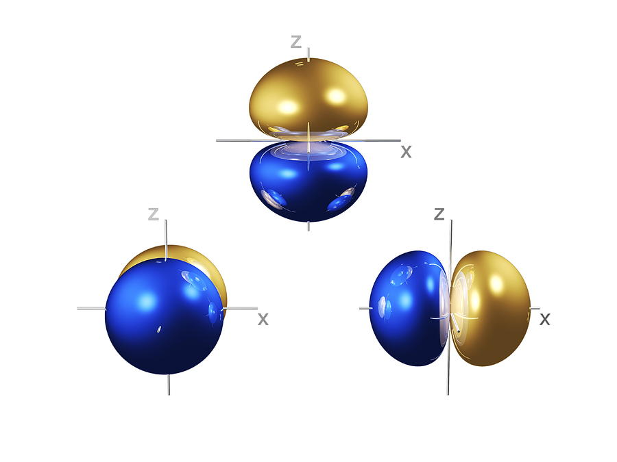 2p Photograph - 2p Electron Orbitals by Dr Mark J. Winter