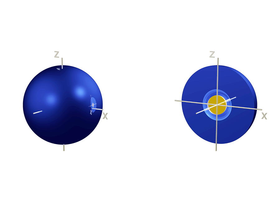 2s Photograph - 2s Electron Orbital by Dr Mark J. Winter