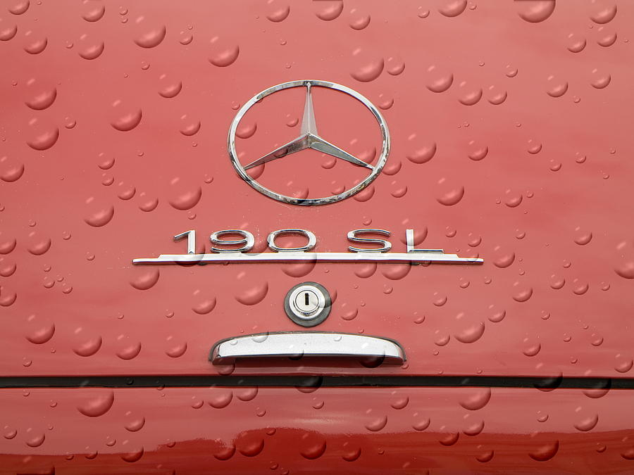190 Photograph -  Old Mercede-benz Logos by Odon Czintos