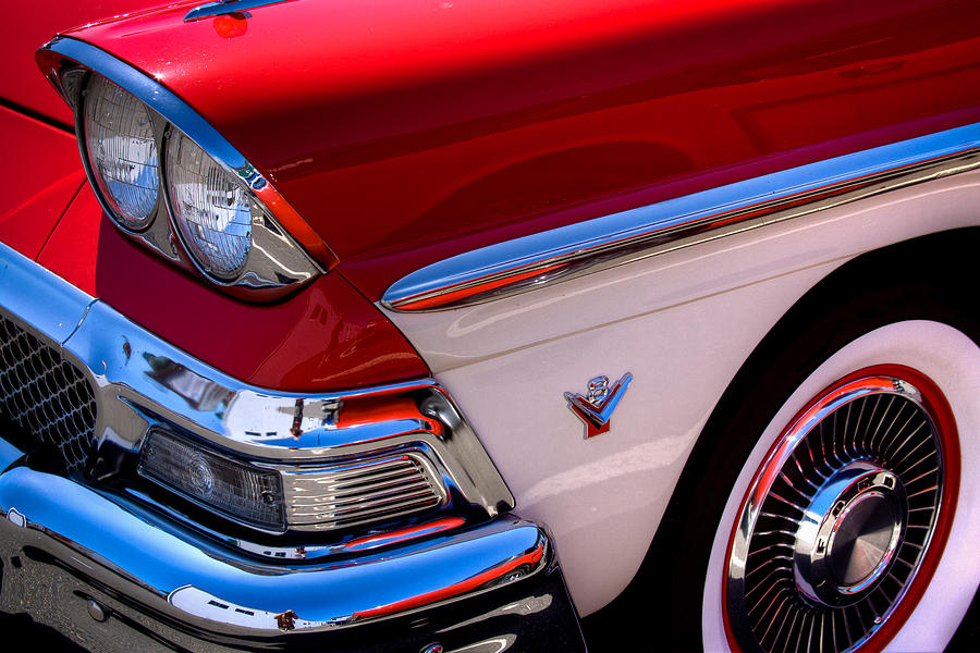 58 Photograph - 1958 Ford Fairlane Skyliner Convertible by David Patterson