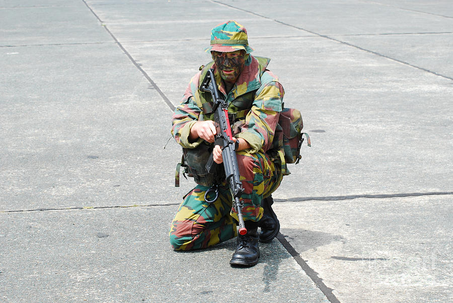 Belgium Photograph - A Paratrooper Of The Belgian Army by Luc De Jaeger