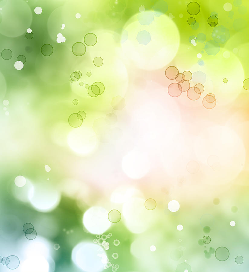 Green Photograph - Abstract Background by Les Cunliffe