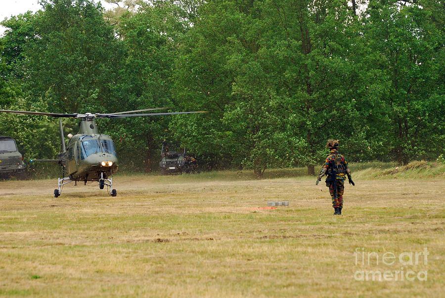 Agusta Photograph - An Agusta A109 Helicopter by Luc De Jaeger