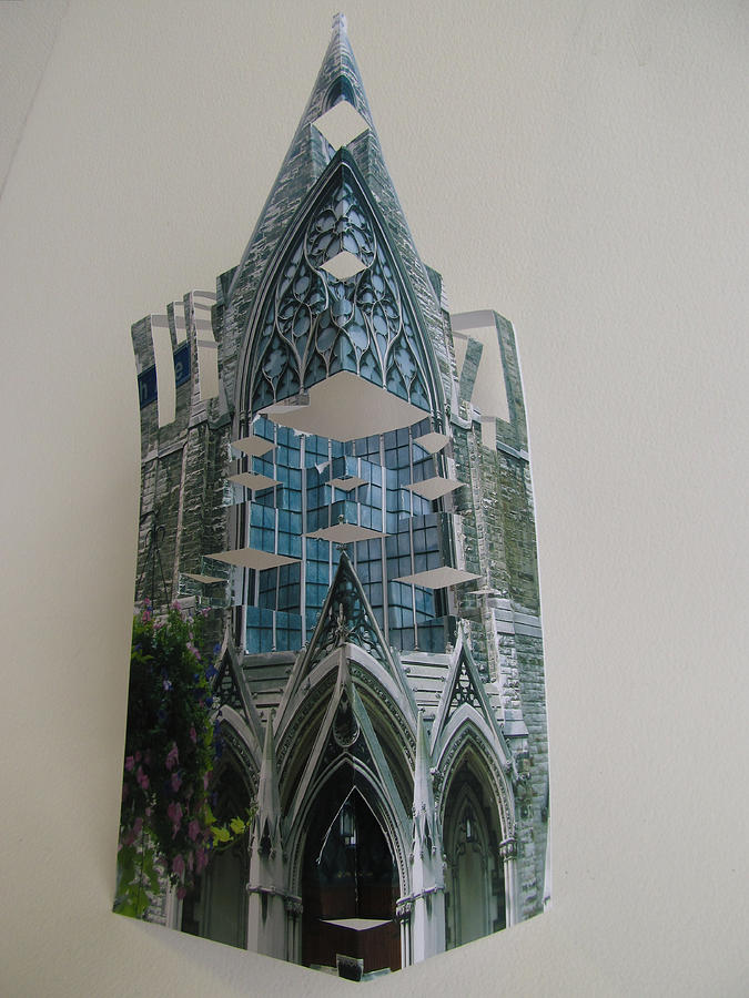 Paper Sculpture - Architecture Reconstruction by Alfred Ng