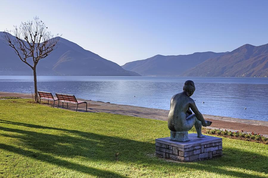 Sculpture Photograph - Ascona - Lake Maggiore by Joana Kruse