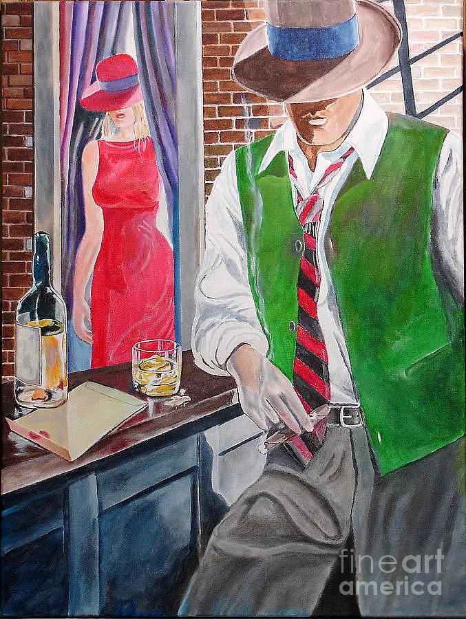 Man Painting - Bar 2 by Kostas Dendrinos