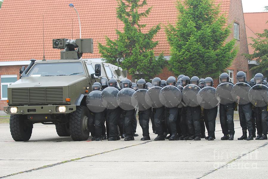 Soldier Photograph - Belgian Infantry Soldiers Training by Luc De Jaeger