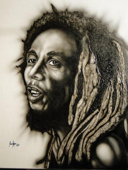 Bob Marley Painting - Bob Marley  by Stephen Sookoo