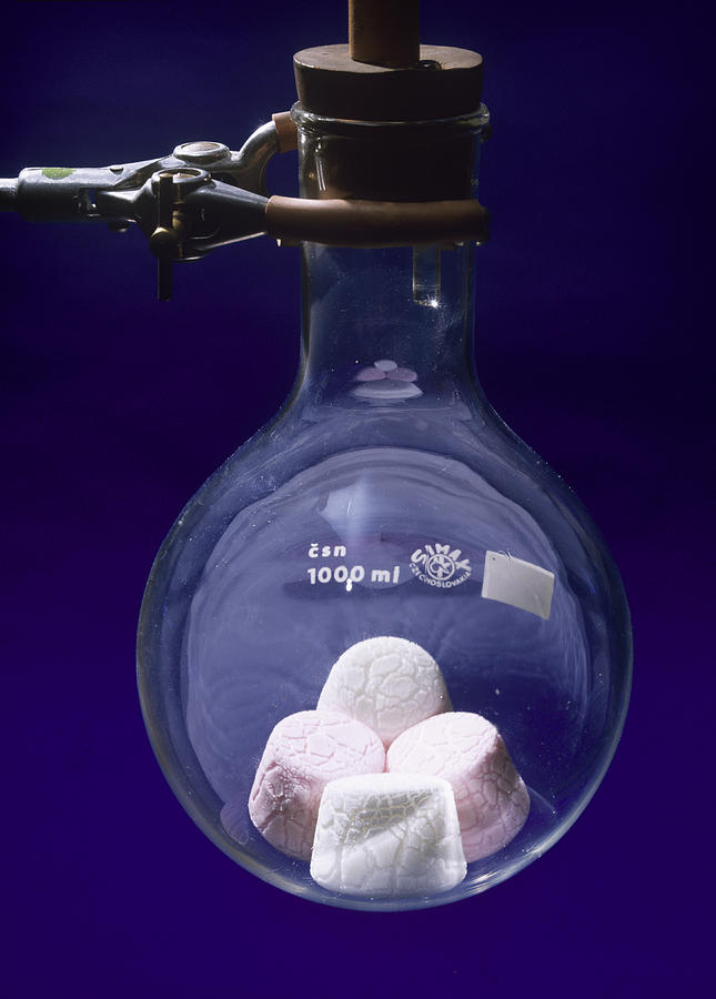 Marshmallow Photograph - Boyles Law Demonstration by Andrew Lambert Photography