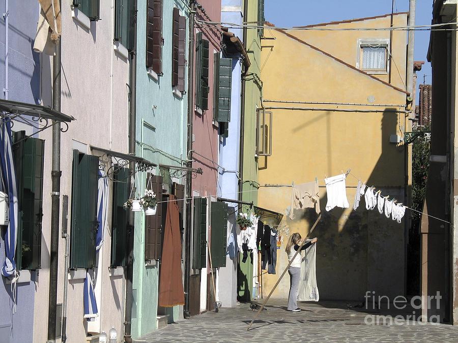 Facade Peinte Photograph - Burano.venice by Bernard Jaubert