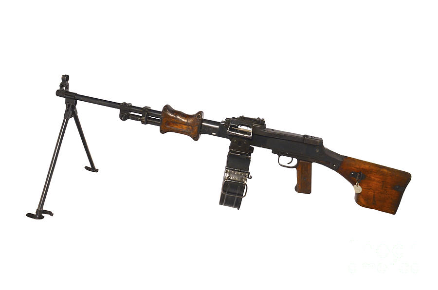 No People Photograph - Chinese Type 56 Light Machine Gun by Andrew Chittock
