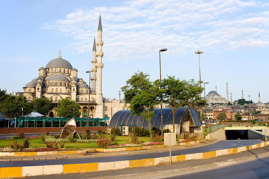 Mosque Photograph - City Of Istanbul by Artur Bogacki