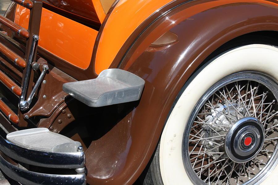Vintage Photograph - Classic Antique Car- Detail by Dora Sofia Caputo