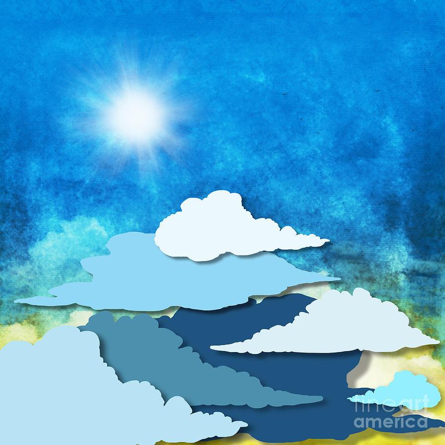 Background Painting - Cloud And Sky by Setsiri Silapasuwanchai