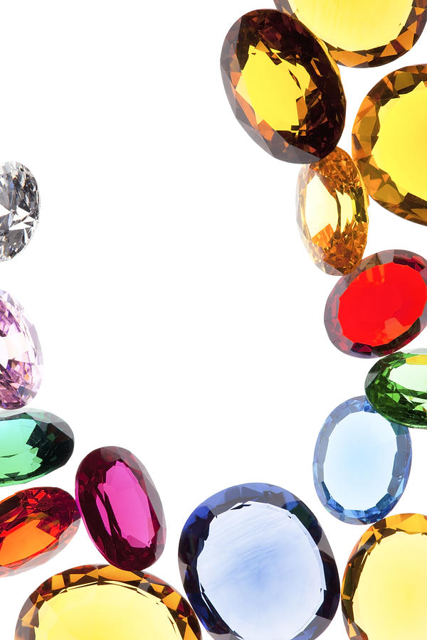 Aquamarine Photograph - Colorful Gems by Setsiri Silapasuwanchai