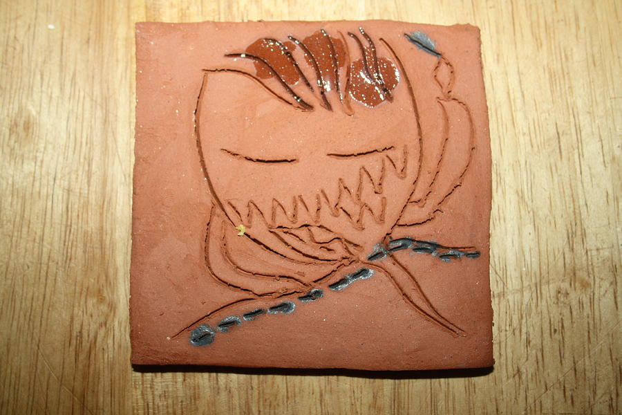 Jesus Ceramic Art - Crazy Pineapple by Gloria Ssali