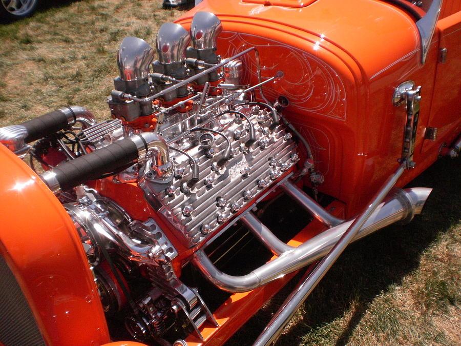 Motor Photograph - 3 Deuces by Trent Mallett