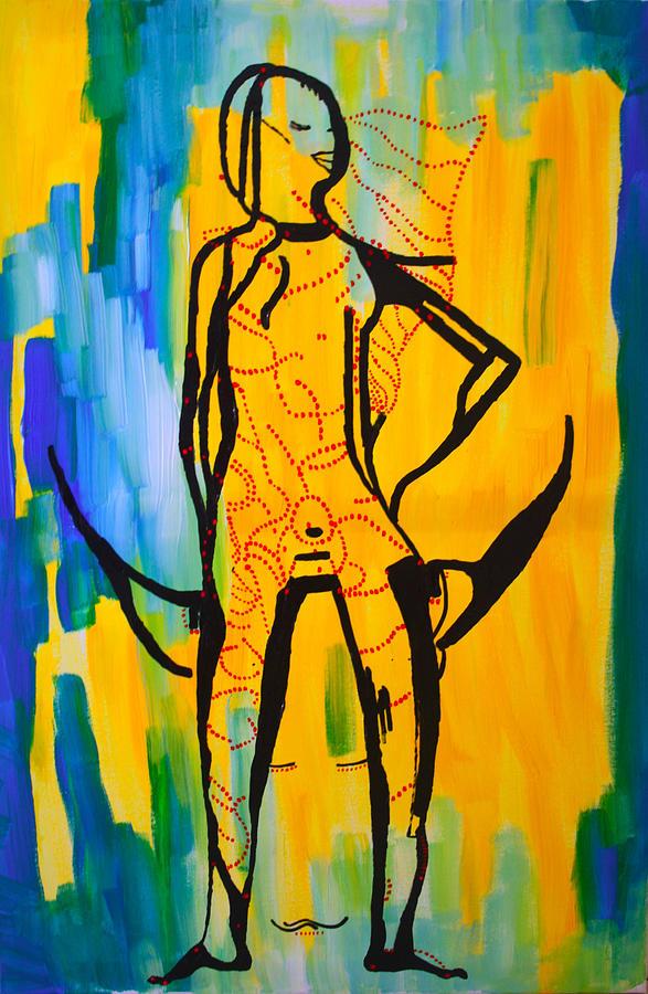 Jesus Painting - Dinka Bride - South Sudan by Gloria Ssali