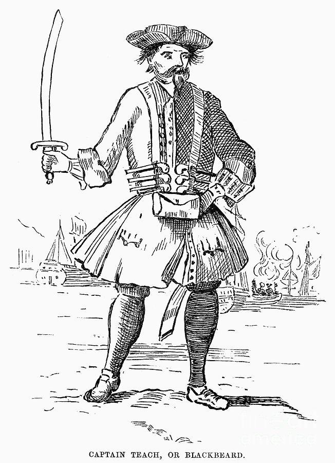 Edward Teach D 1718 Photograph By Granger