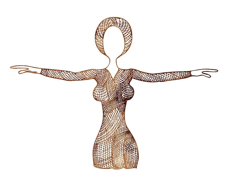 Fashion Illustrations Painting - Fashion Sketch by Frank Tschakert