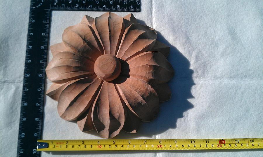 Wood Carving Sculpture - Flowers Carved Application by Mario Rodriguez