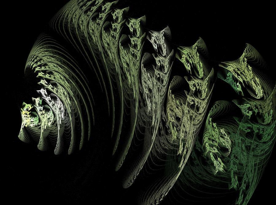 Fractal Flame Digital Art - Foliage by Michele Caporaso