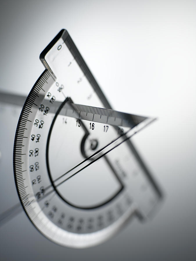 Protractor Photograph - Geometry Set by Tek Image
