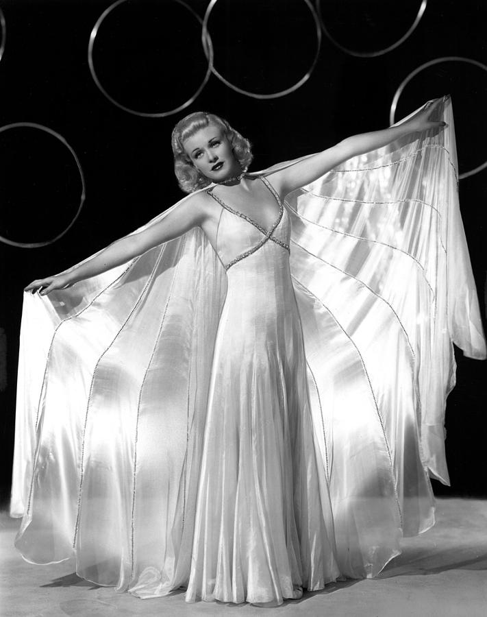 1930s Fashion Photograph - Ginger Rogers, In A Publicity Portrait by Everett
