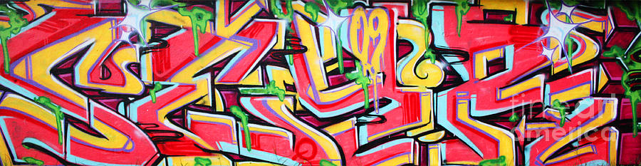 Colorful Photograph - Graffiti Wall by Manuel Fernandes