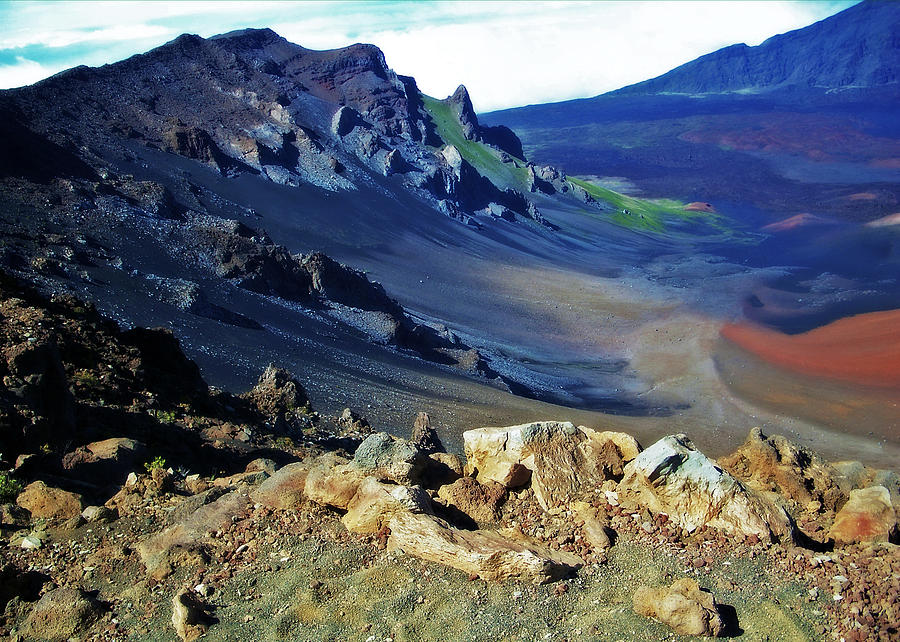 Crater Photograph - Haleakala Crater In Maui Hawaii by Sheila Kay McIntyre