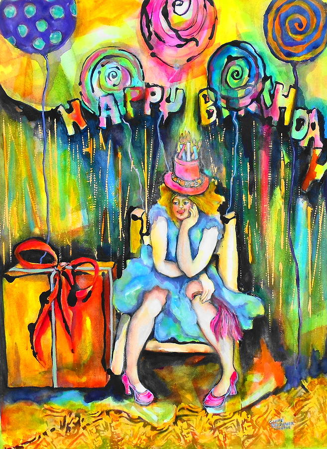Happy Birthday Painting By Claire Sallenger Martin