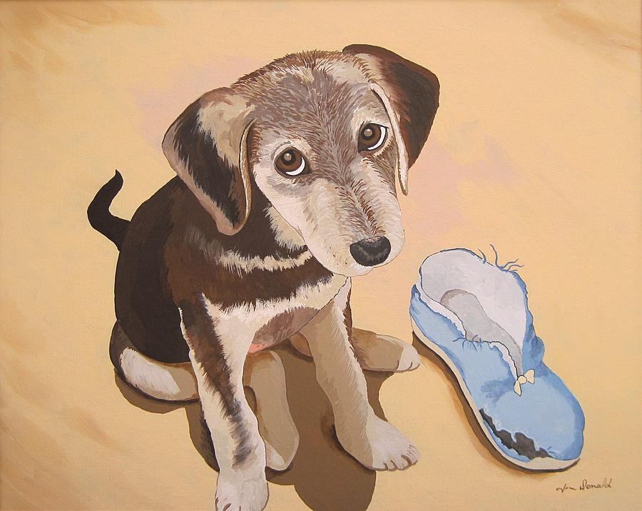 Dog Painting - Its What I Do by Jennifer  Donald