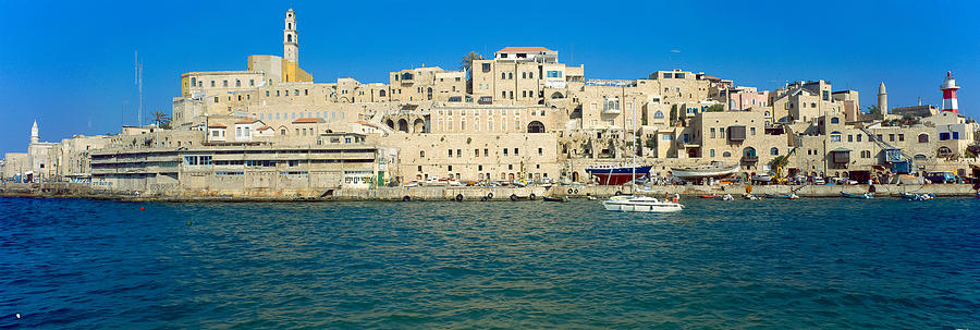 Jaffa Photograph - Jaffa Harbour Panorama by Daniel Blatt