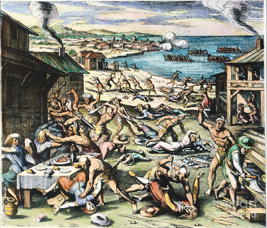 jamestown massacre 1622 photograph by granger