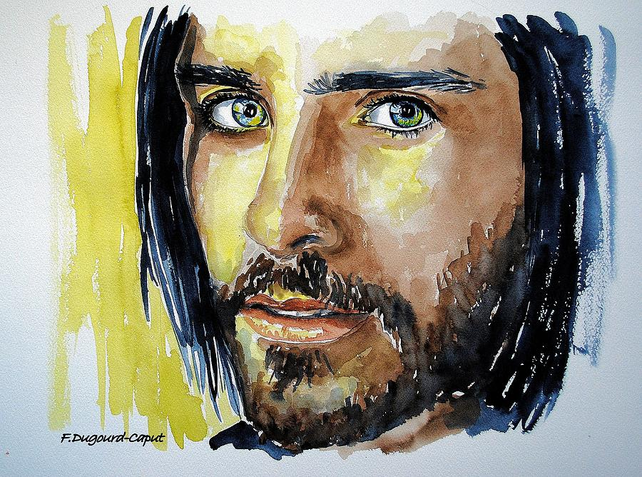 Singer Painting - Jared Leto by Francoise Dugourd-Caput