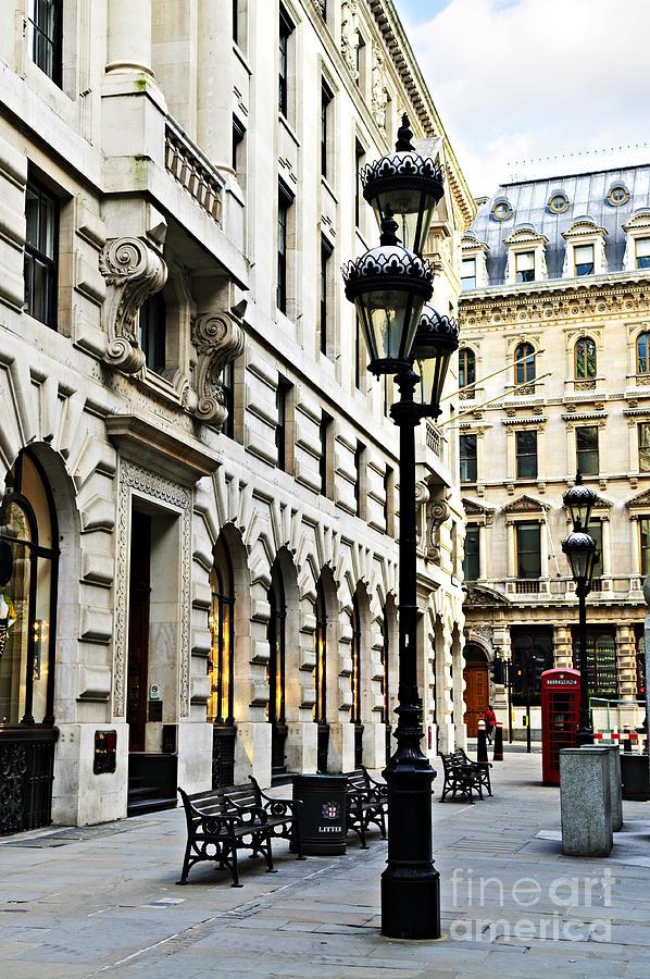 London Photograph - London Street by Elena Elisseeva