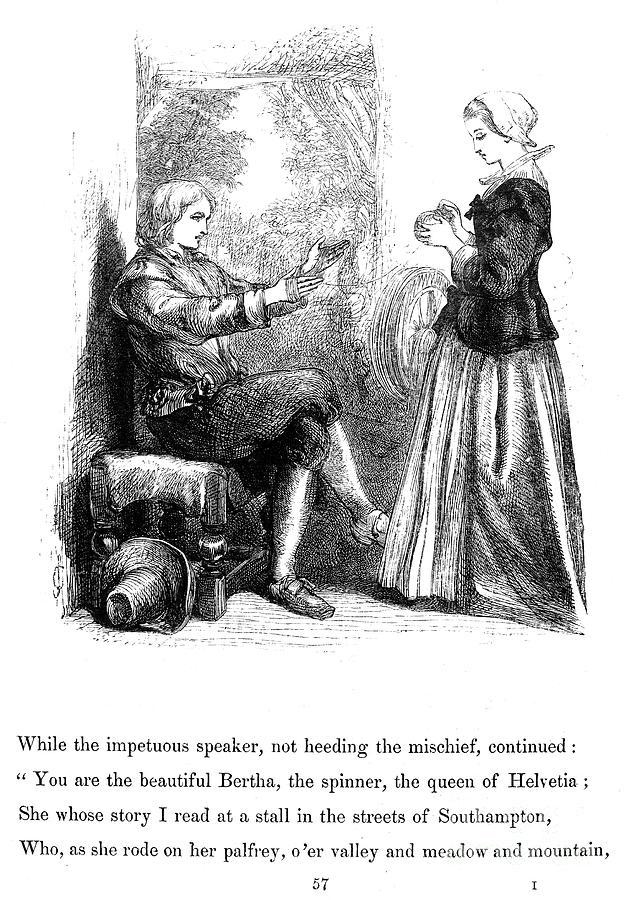 1859 Photograph - Longfellow: Standish, 1859 by Granger
