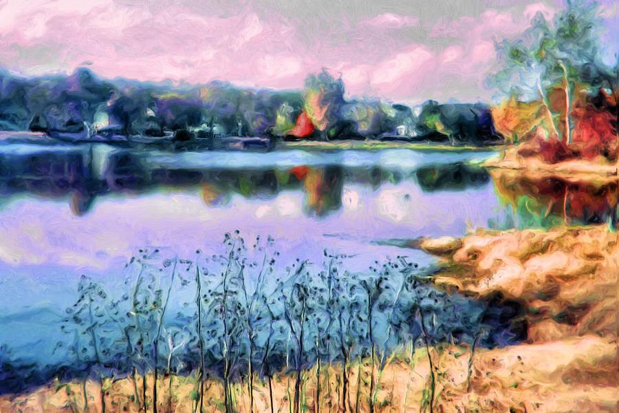 Longview Lake Digital Art - Longview Lake by Laurie Douglas